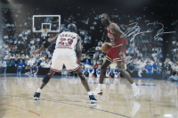 Michael Jordan Signed Chicago Bulls LE 16x24 Photo (UDA Hologram)