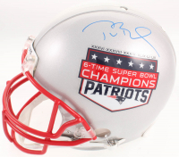 Tom Brady Signed New England Patriots 6-Time Super Bowl Champion Full-Size Authentic On-Field Helmet (TriStar Hologram  & Steiner Hologram)