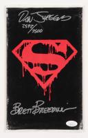 "Lot of (2) Dan Jurgens & Brett Breeding Signed LE 1992 ""Superman"" Issue #75 DC Comic Books"