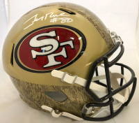 Jerry Rice Signed San Francisco 49ers Full-Size Hydro Dipped Speed Helmet (Beckett COA)