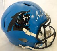 Christian McCaffrey Signed Carolina Panthers Full-Size Hydro Dipped Speed Helmet (Beckett COA)