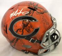 Mike Singletary Signed Chicago Bears Full-Size Hydro Dipped Speed Helmet (Beckett COA)