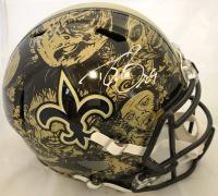 Drew Brees Signed New Orleans Saints Full-Size Hydro Dipped Speed Helmet (Beckett COA)
