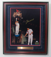 "Muhammad Ali Signed ""1996 Olympics"" 22x26 Custom Framed Photo (PSA LOA)"