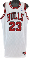 Michael Jordan Signed Chicago Bulls Jersey with Hand Painted Portrait (UDA COA) at PristineAuction.com