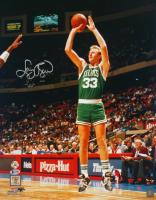 Larry Bird Signed Boston Celtics 16x20 Photo (Beckett COA & Bird Hologram)