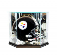 Octagon Full-Size Football Helmet Glass Display Case at PristineAuction.com