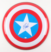 "Stan Lee Signed ""Captain America"" Full-Size Replica Shield (JSA COA) at PristineAuction.com"