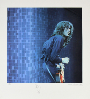 Jimmy Page Signed LE 30x33 Lithograph (Beckett LOA)