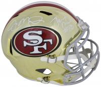 Joe Montana & Jerry Rice Signed San Francisco 49ers Chrome Speed Full-Size Helmet (Beckett COA)