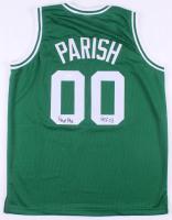 """Robert Parish Signed Boston Celtics Jersey Inscribed """"HOF 03"""" (JSA COA)"""
