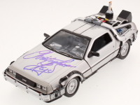 "Christopher Lloyd Signed ""Back to the Future Part II"" DeLorean 1:24 Diecast Car (Beckett COA)"