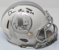 Derrius Guice Signed Washington Redskins White ICE Speed Mini Helmet (Beckett COA)