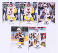 Lot of (101) 2018 Leaf Football Rookie Cards with #LB-01 Baker Mayfield, #LB-02 Josh Allen, #LB-03 Josh Rosen, #LB-04 Sam Darnold at PristineAuction.com