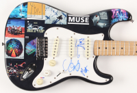 "Matt Bellamy, Dominic Howard & Chris Wolstenholme Signed ""Muse"" Fender 39"" Electric Guitar (PSA Hologram)"