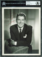"Ronald Reagan Signed 8x10 Photo Inscribed ""With Deep Gratitude & Every Good Wish"" (BGS Encapsulated)"