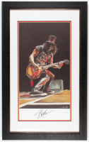 Slash Signed Guns N' Roses LE 21x34 Custom Framed Lithograph (JSA Hologram) at PristineAuction.com