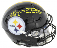 "JuJu Smith-Schuster Signed Pittsburgh Steelers Full-Size Authentic On-Field Speed Flex Helmet Inscribed ""Steelers Nation"", ""2018 Steelers MVP"" & ""2018 Pro Bowl"" (Beckett COA)"