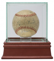 OPL Baseball Signed by (10) Baseball Legends Including Babe Ruth, Lou Gehrig, Tony Lazzeri, Johnny Gooch (JSA LOA)