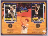 John Wooden & Bill Walton Signed LE UCLA Bruins 12x16 Photo Display with Bronze Coins (JSA COA)