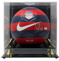 Christian Pulisic Signed USA Logo Soccer Ball with Display Case (Panini COA)