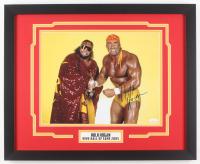 Hulk Hogan Signed WWE 18x22 Custom Framed Photo Display (JSA COA)