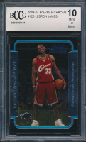 2003-04 Bowman Chrome #123 LeBron James RC (BCCG 10) at PristineAuction.com