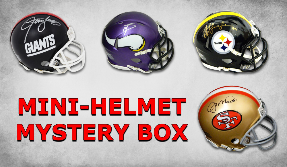e9ee53cec4d Schwartz Sports Signed Football Mini Helmet Mystery Box - Series 13  (Limited to 50) - 50 Different Players – NO DUPLICATES