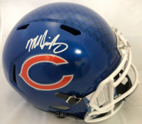 Mike Singletary Signed Chicago Bears Full-Size Hydro Dipped Speed Helmet (Beckett COA)
