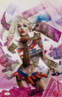 Greg Horn Signed Harley Quinn: Blood Money Pink 11x17 Lithograph (JSA COA)