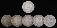 Lot of (6) Morgan Silver Dollars with 1890-CC at PristineAuction.com