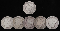 Lot of (6) Morgan Silver Dollars with 1882-CC