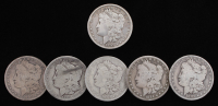 Lot of (6) Morgan Silver Dollars with 1891-CC at PristineAuction.com