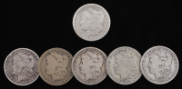 Lot of (6) Morgan Silver Dollars with 1878-CC