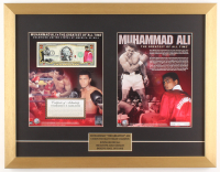 Muhammad Ali 17x22 Custom Framed Bank Note Display