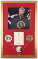 Bill Clinton 18x28 Custom Framed Inauguration Invitation Display with Pins