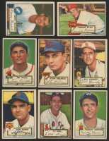 Lot of (8) 1952 Topps Baseball Cards with #78 Ellis Kinder & #106 Mickey Vernon