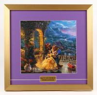 "Thomas Kinkade Walt Disney's ""Beauty and the Beast"" 17.5x18 Custom Framed Print"