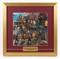 "Thomas Kinkade Walt Disney's ""Pirates of the Caribbean"" 17.5x18 Custom Framed Print"