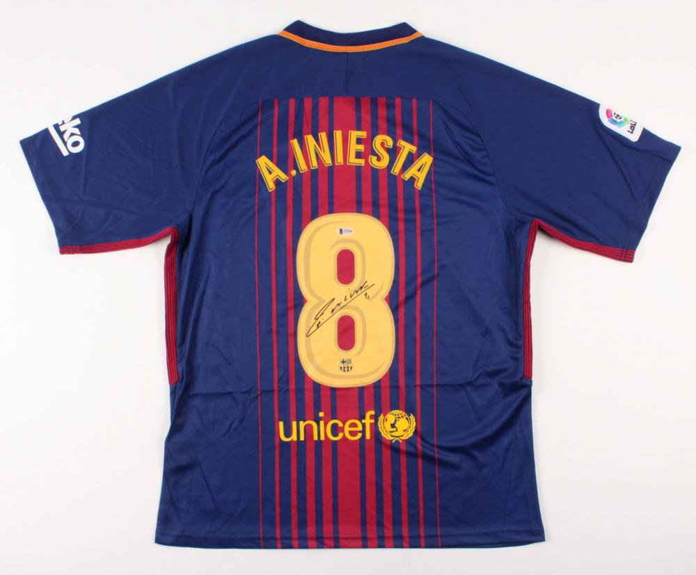 cba1a9981e8 Andres Iniesta Signed FC Barcelona Jersey (Beckett COA)