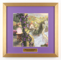 "Thomas Kinkade Walt Disney's ""Beauty and the Beast"" 17.5x18 Custom Framed Print"