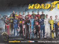 2015 NASCAR Goodyear Road Warriors 11.25x34 Poster Signed by (34) with Dale Earnhardt Jr., Danica Patrick, Kyle Busch, Jeff Gordon, Jimmie Johnson (JSA ALOA) at PristineAuction.com