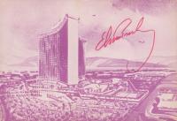 "Elvis Presley Signed ""International Hotel"" 4.5x6.5 Postcard (REAL LOA)"