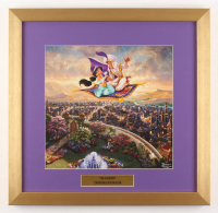 "Thomas Kinkade Walt Disney's ""Aladdin"" 17.5x18 Custom Framed Print Display at PristineAuction.com"