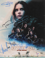 """Star Wars: Rogue One"" 11x14 Photo Cast-Signed by (6) with Felicity Jones, Donnie Yen, Alan Tudyk, Gary Whitta (PSA LOA)"