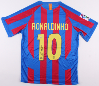 "Ronaldinho Signed FC Barcelona Jersey Inscribed ""Rio"" (Beckett COA) at PristineAuction.com"