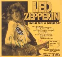 "John Paul Jones, Jimmy Page, & Robert Plant Signed ""Led Zeppelin"" 11x12 Advertisement (JSA LOA)"