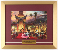 "Thomas Kinkade Walt Disney's ""Mickey & Minnie In Hollywood"" 15.5x18 Custom Framed Print Display"