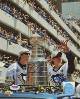 Marc-Andre Fleury & Sidney Crosby Signed Pittsburgh Penguins 8x10 Photo (PSA COA)