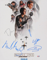 """Star Wars: Rogue One"" 11x14 Photo Cast-Signed by (5) with Felicity Jones, Donnie Yen, Gary Whitta, Mads Mikkelsen (PSA LOA) at PristineAuction.com"